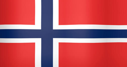 Waving Flag of Norway Looping Background Live Action