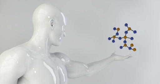Science Background with Molecules for Research and Development Live Action