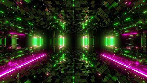 futuristic scifi fantasy hangar tunnel corridor with bricks texture and nice Animation