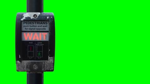Isolated British Wait Sign Animation