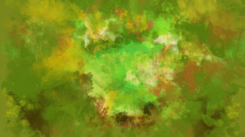 Green watercolor background appears on the alpha channel Animation