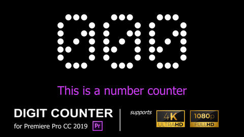 4K/HD NUMBER COUNTER [COUNTER10] Premiere Proテンプレート