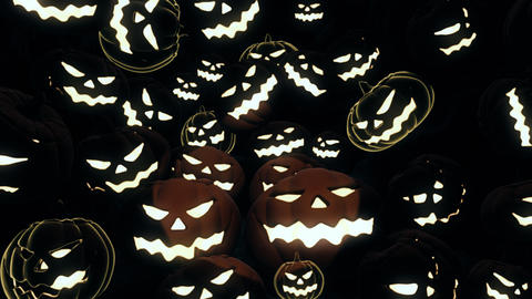 Halloween Pumpkin 06 4K Animation