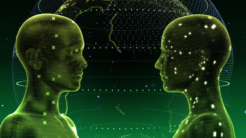 AI artificial intelligence digital network technologies 19 2 Duo 5 green 4k Animation