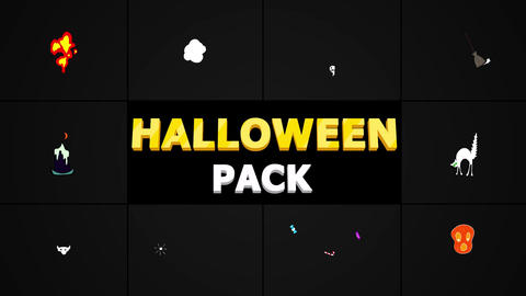 Halloween Elements Apple Motion Template