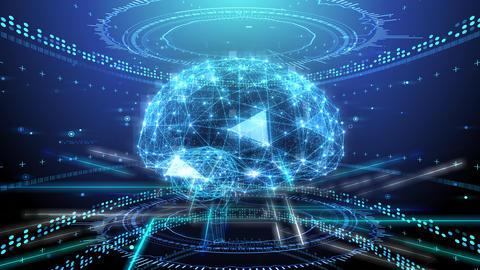 AI artificial intelligence digital network technologies 19 2 Mix 2 blue 4k Animation