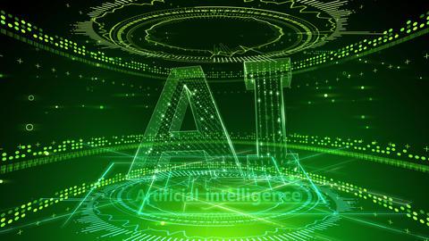 AI artificial intelligence digital network technologies 19 2 Mix 2 green 4k Animation