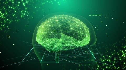 AI artificial intelligence digital network technologies 19 2 Mix 3 green 4k Animation