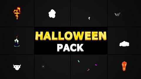 Halloween Elements モーショングラフィックステンプレート