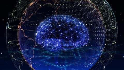 AI artificial intelligence digital network technologies 19 2 Mix 5 blue 4k Animation