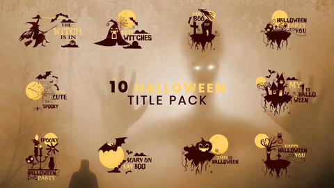 10 Halloween Title Pack MOGRT Motion Graphics Template