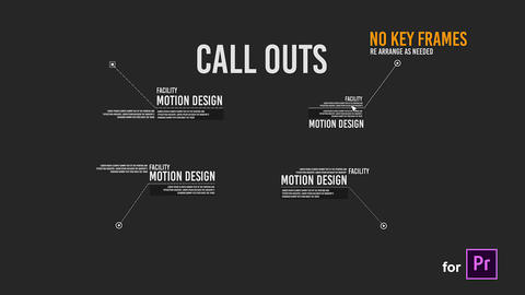 Call Out Titles Forms for Premiere Pro Motion Graphics Template