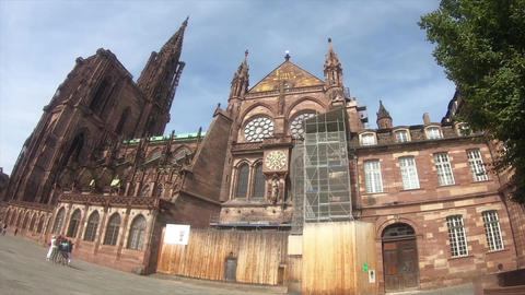 French world heritage Strasbourg Cathedral Live Action