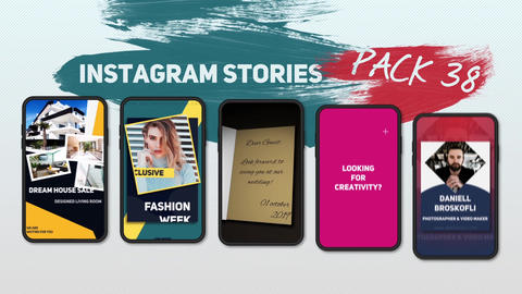 Instagram Stories Pack 38 After Effects Template