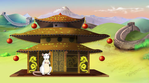 White Rat wishes a Happy Chinese New Year 2020 Videos animados