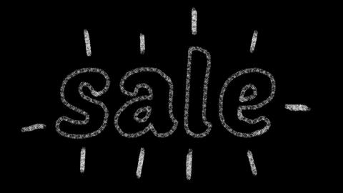written sale, animated type chalk, ideal for themes such as online commerce, 4k Live Action