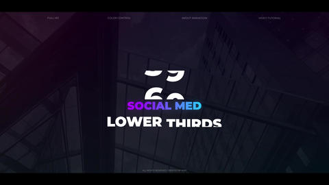 60 Social Media Lower Thirds Plantilla de After Effects