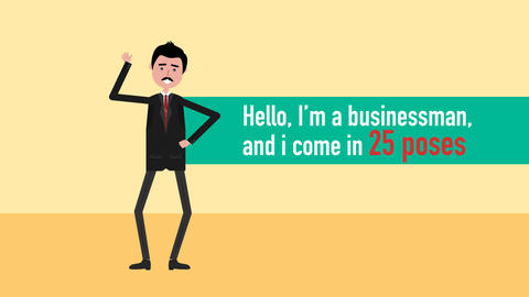 Businessman Character Animation After Effects Template