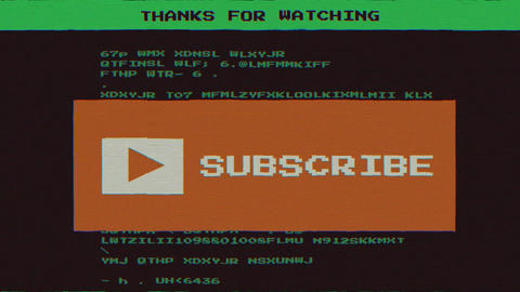 Retro PC-style YouTube end screen Animation