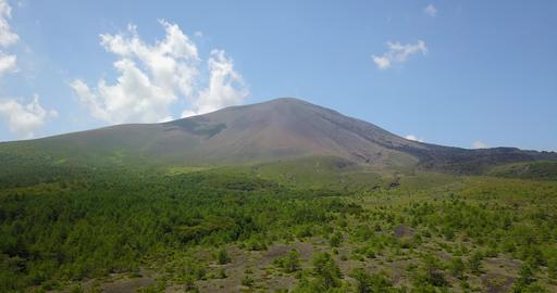 日本,群馬,長野,ドローン,空撮,火山,山,嬬恋,自然,浅間山 ビデオ