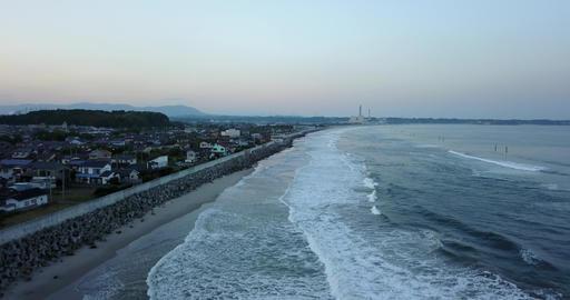 Japan,Japanese,Fukushima,Iwaki,Nakoso,Drone,sky,Pacificocean,country,sea,landscape Live Action