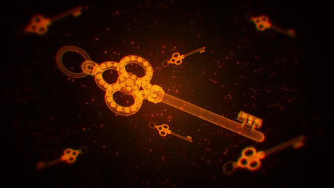 Gold Abstract Keys VJ Loop Motion Graphic Background Animation