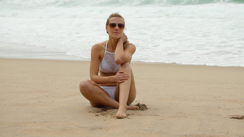 A beautiful day at the beach - wonderful place to relax Footage