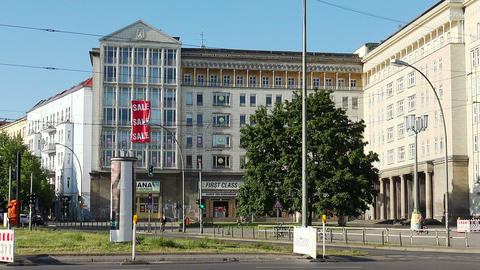 Berlin Center. Old city. Architecture. Houses, streets, neighborhoods. Germany Live Action