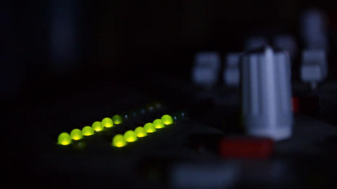 Colored lights of a mixer showing loudness loudspeakers broadcast 01 Live Action