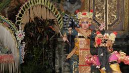 Traditional balinese legong dance,Ubud,Bali,Indonesia Footage