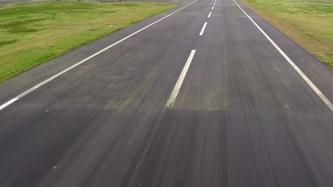 Aerial shot of empty road Footage