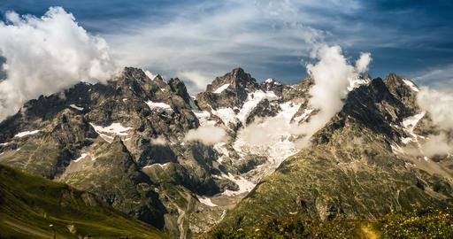 4K, Time Lapse, Cloud Formation At Col Du Lautaret, France - Neutral Version Live Action