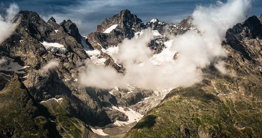 4K, Time Lapse, Cloud Formation At Col Du Lautaret, France - Neutral Version, Pa Live Action
