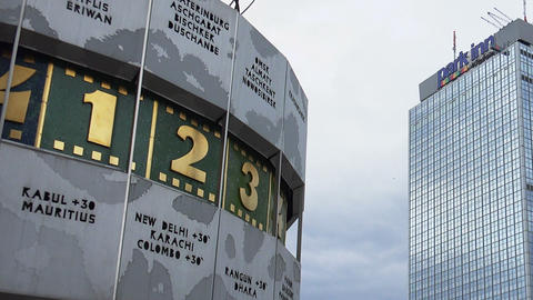 The World Clock At Alexanderplatz In Berlin Live Action