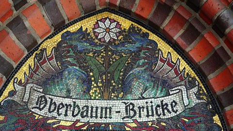 Architectural fragment of the Oberbaum Bridge in Berlin Live Action