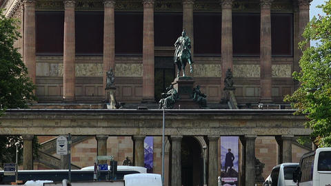 Old National Gallery in Berlin. Germany Live Action