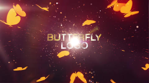 Butterfly Logo Reveal Plantilla de After Effects