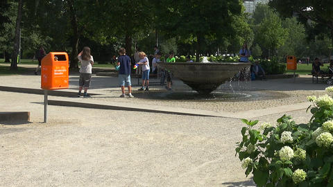 Recreation Park in Berlin. Germany Live Action
