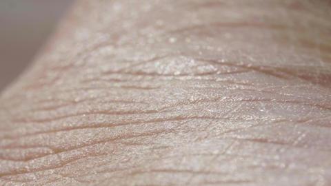 White detailed caucasian human skin closeup in macro Footage