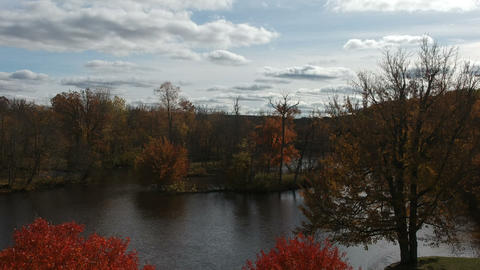 Scenic River During Fall Season in Michigan (Version #4) Live Action