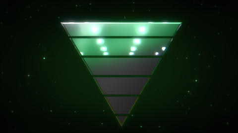 Motion retro triangle in space, abstract background with noise and distortion CG動画