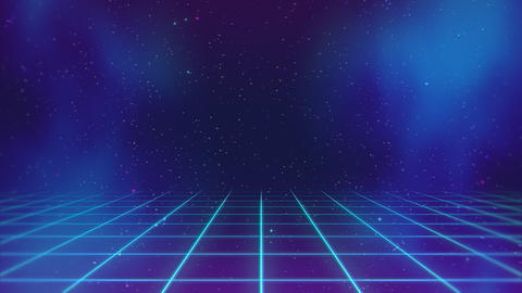 Motion retro blue lines in space, abstract background CG動画
