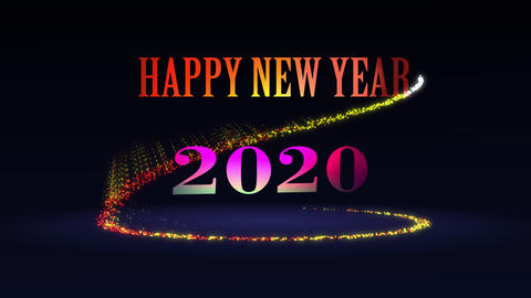 Happy new year 2020 Animation