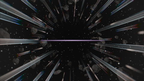 Motion retro lines in galaxy, abstract background CG動画