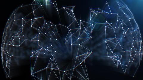 Polygonal Network Shape Dynamic Gradients 4K. Technology Abstract Geometric Background Plexus. ビデオ