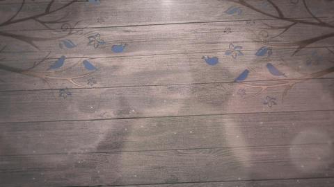Closeup motion birds on trees on wood, wedding background 動画素材, ムービー映像素材
