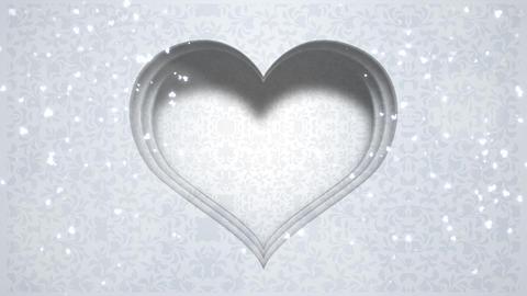 Closeup white hearts of love,wedding background, CG動画素材