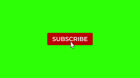 Mouse Click on Subscribe and Notification Bell on Green Screen Animation