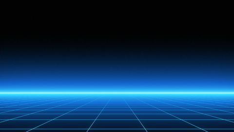 VJ 80's Retro-Futuristic Horizon 애니메이션