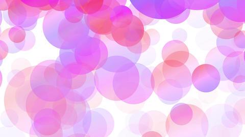 フラットカラフルパーティクル Pink GIF